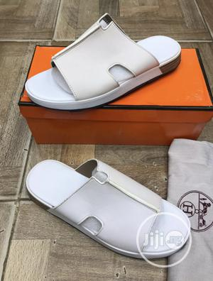 Hermes Leather Slippers Palm Available   Shoes for sale in Lagos State, Surulere