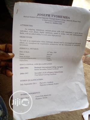 Seeking Work CV   Advertising & Marketing CVs for sale in Benue State, Makurdi