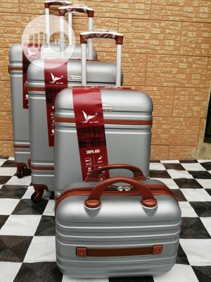 Bright Silver Color Trolley Luggage Bags (4 Sets) Available Now | Bags for sale in Lagos State, Ikeja