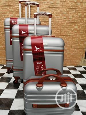4 Wheels Silver Color Trolley Suite Case Bags (4 Sets) | Bags for sale in Lagos State, Ikeja