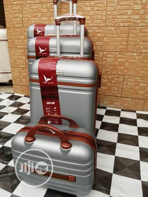 Fancy Silver Color Trolley Luggage Bags (4 Sets) For Slay Queens   Bags for sale in Lagos State, Ikeja