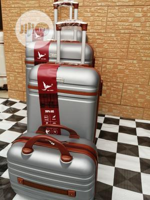 Luxury Silver Color Trolley Luggage Bags (4 Sets) For Boarding Student   Bags for sale in Lagos State, Ikeja