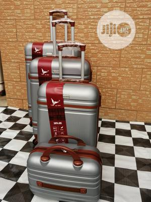 Quality Wheels Silver Color Trolley Luggage Bags (4 Sets) For Sale | Bags for sale in Lagos State, Ikeja