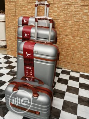 Elegant Silver Color Trolley Luggage Bags (4 Sets) For The Family | Bags for sale in Lagos State, Ikeja