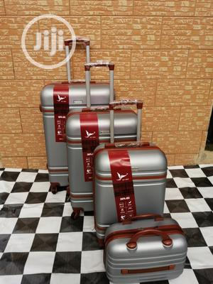 Suite Case Trolley Luggage Bags (4 Sets) Silver Color For Sale | Bags for sale in Lagos State, Ikeja