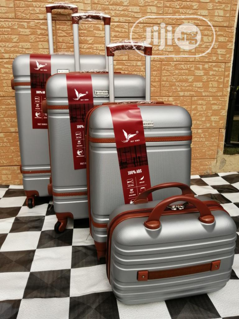 Beautiful Silver Color Trolley Bags (4 Sets) Available Now In Ikeja