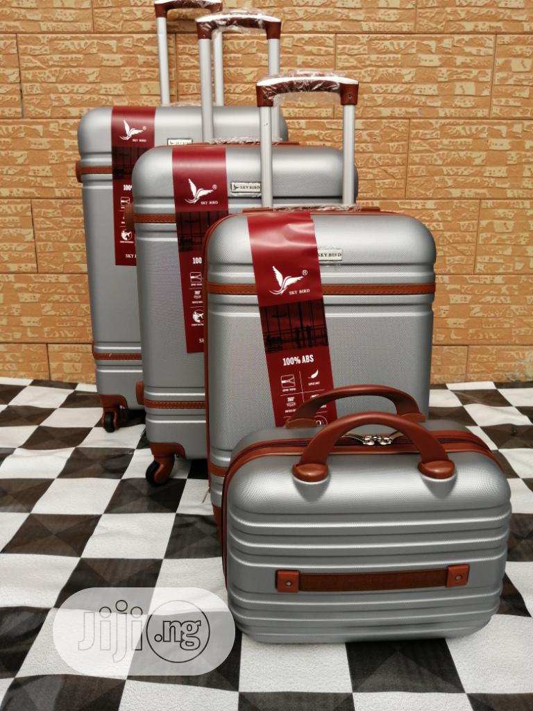 Silver Color Luggage Trolley Bags (4 Sets) For Travelers