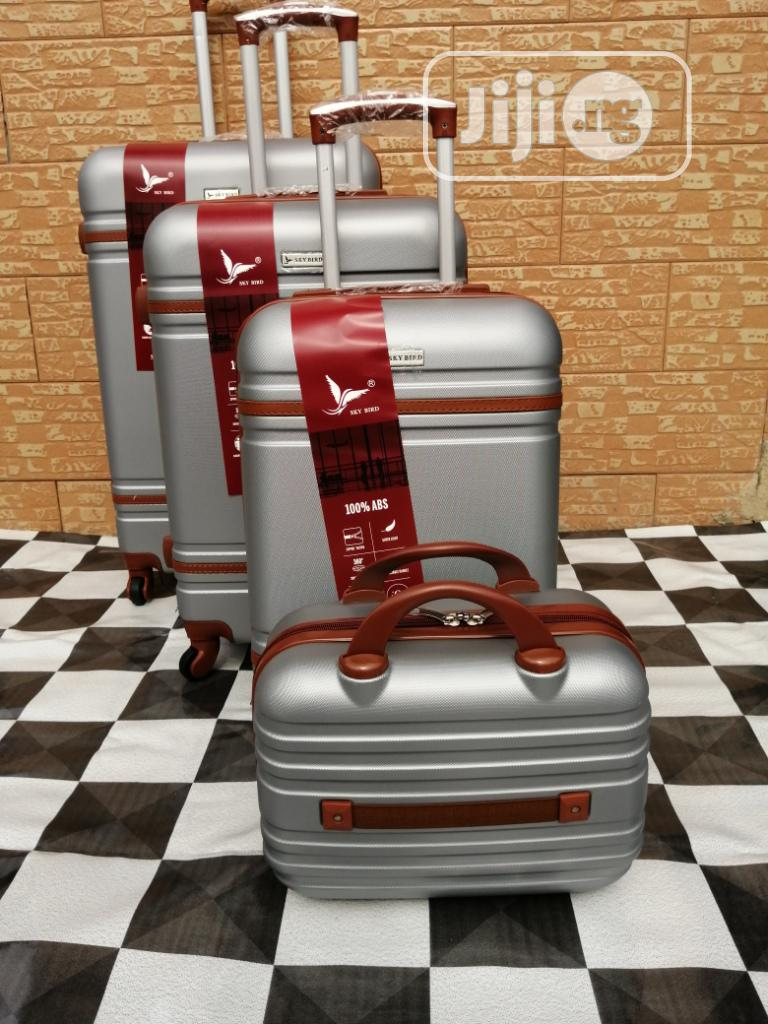 Beautiful Silver Colored Luggage Trolley (4 Sets) For The Family