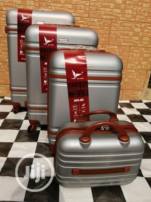 4 Wheels Silver Color Trolley Suite Case Bags (4 Sets) For Clients | Bags for sale in Lagos State, Ikeja