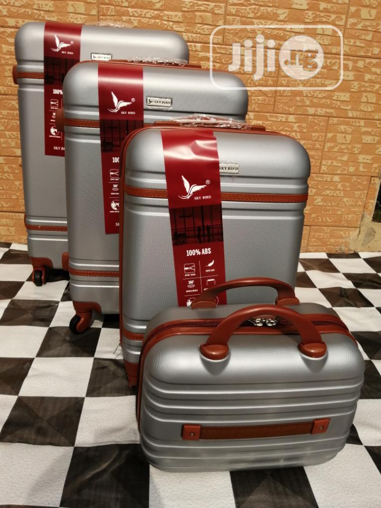 4 Wheels Silver Color Trolley Suite Case Bags (4 Sets) For Clients
