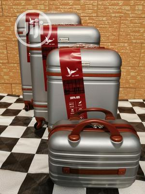 Super Cool Silver Color Trolley Luggage Bags (4 Sets) Available | Bags for sale in Lagos State, Ikeja