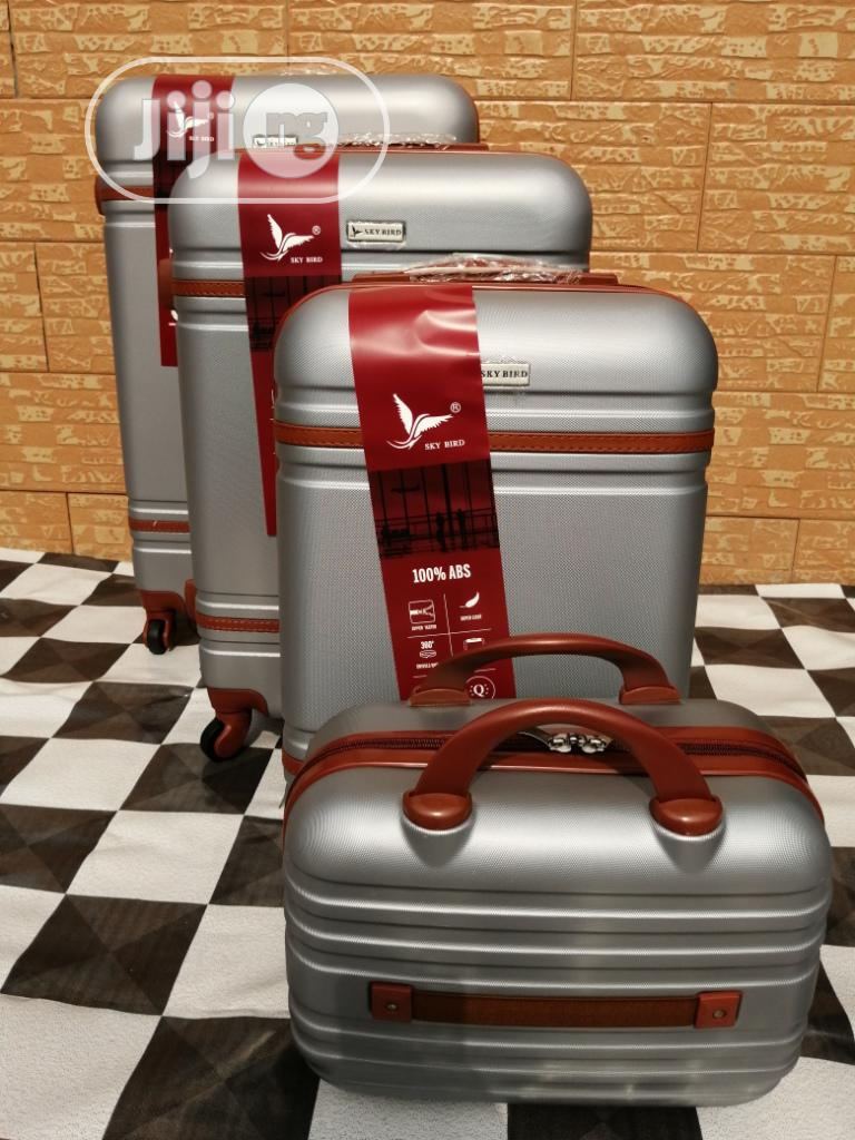 Super Cool Silver Color Trolley Luggage Bags (4 Sets) Available