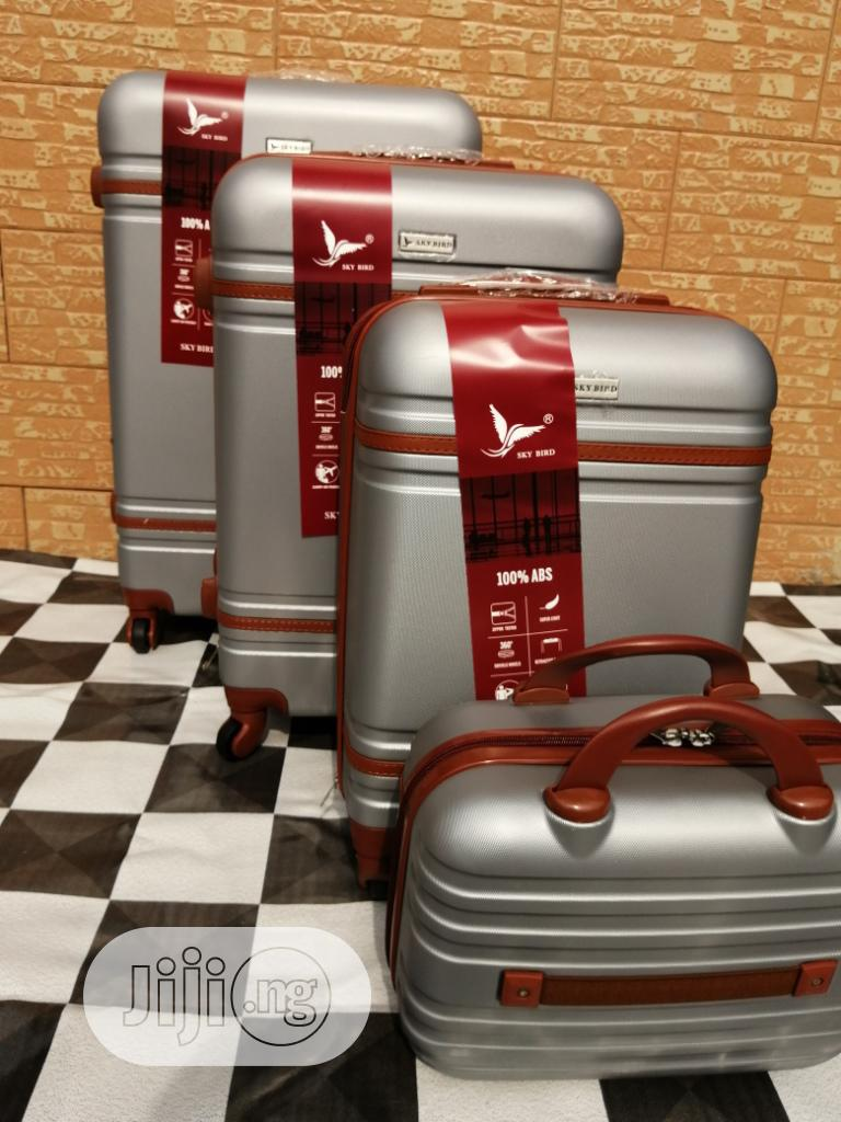 Cool Wheels Silver Color Trolley Luggage Bags (4 Sets) Available