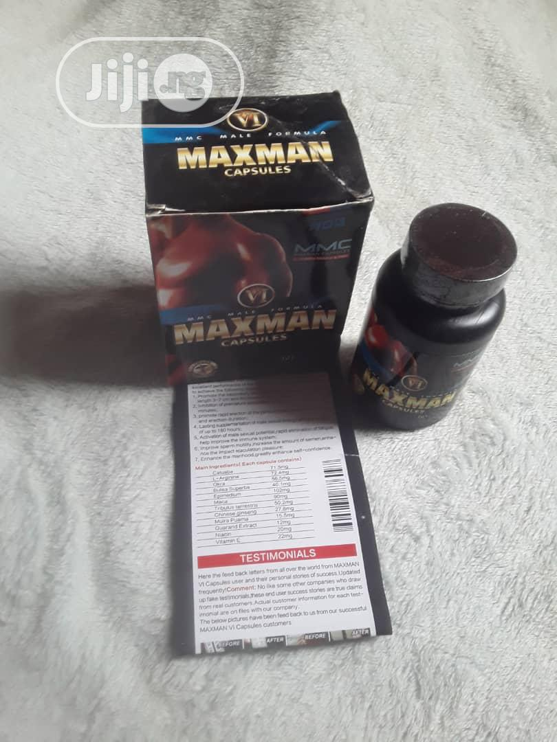 Maxman VI Gold Enlargement/ Big Size 60 Caps   Sexual Wellness for sale in Yaba, Lagos State, Nigeria