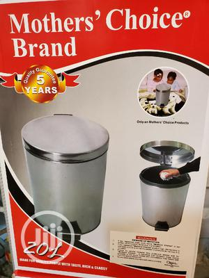 20 Litre Stainless Steel Pedal Waste Bin | Home Accessories for sale in Lagos State, Ipaja