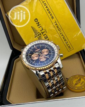 Breitling Chronograph Rose Gold/Silver Chain Watch | Watches for sale in Lagos State, Lagos Island (Eko)