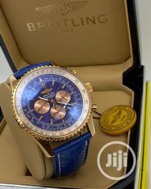 Breitling Chronograph Rose Gold Leather Strap Watch | Watches for sale in Lagos State, Lagos Island (Eko)