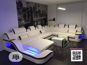 Volot (U) Shape Upholstered Sofas Chair With LED Lights | Furniture for sale in Lagos State, Lekki