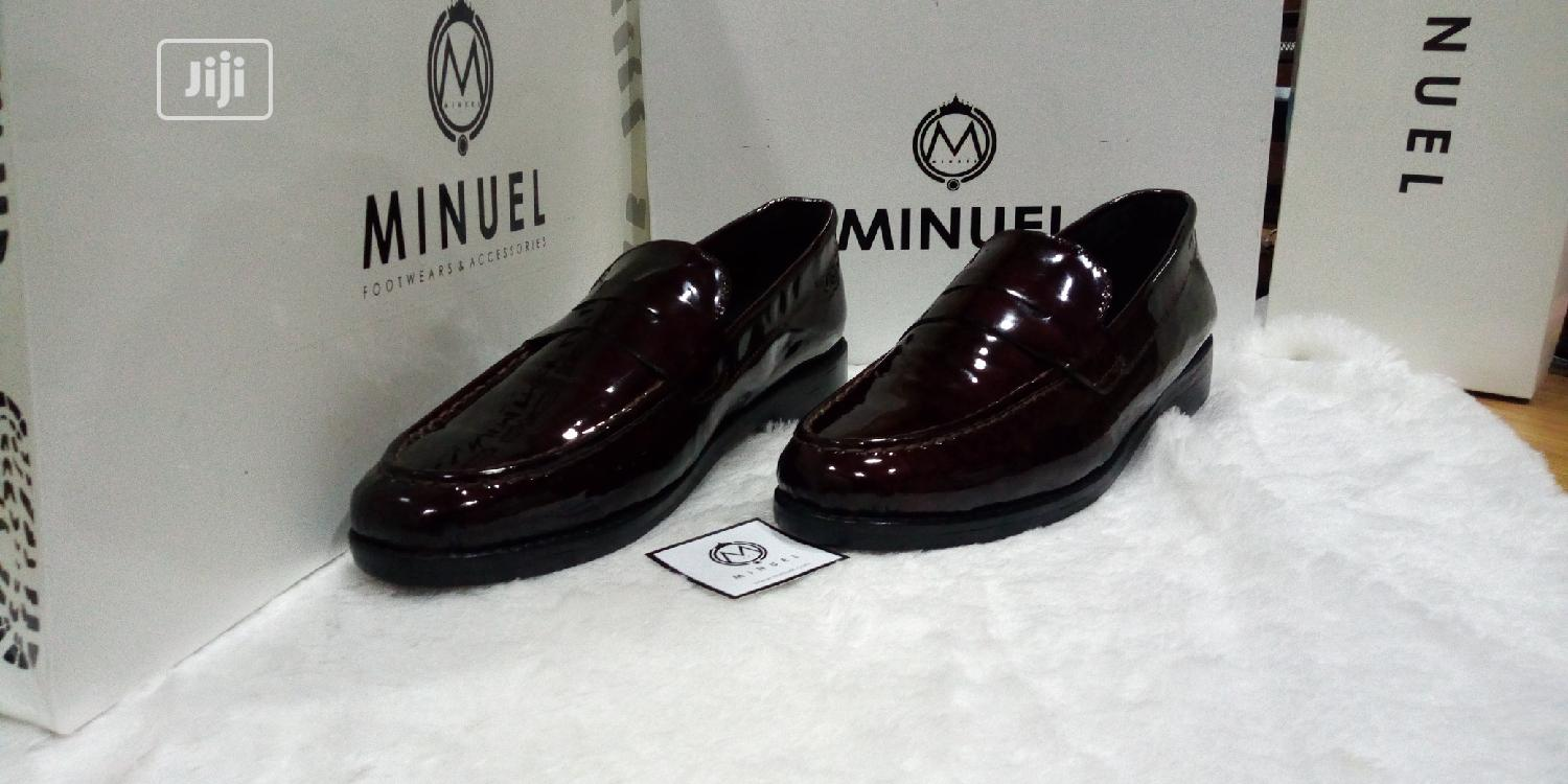 Wine Patent Penny Loafers