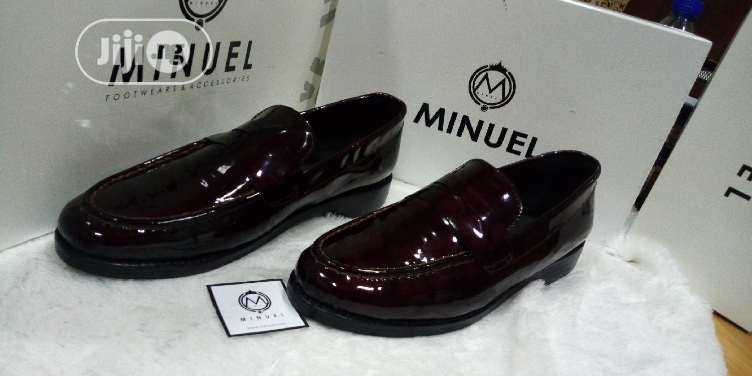 Wine Patent Penny Loafers | Shoes for sale in Mushin, Lagos State, Nigeria