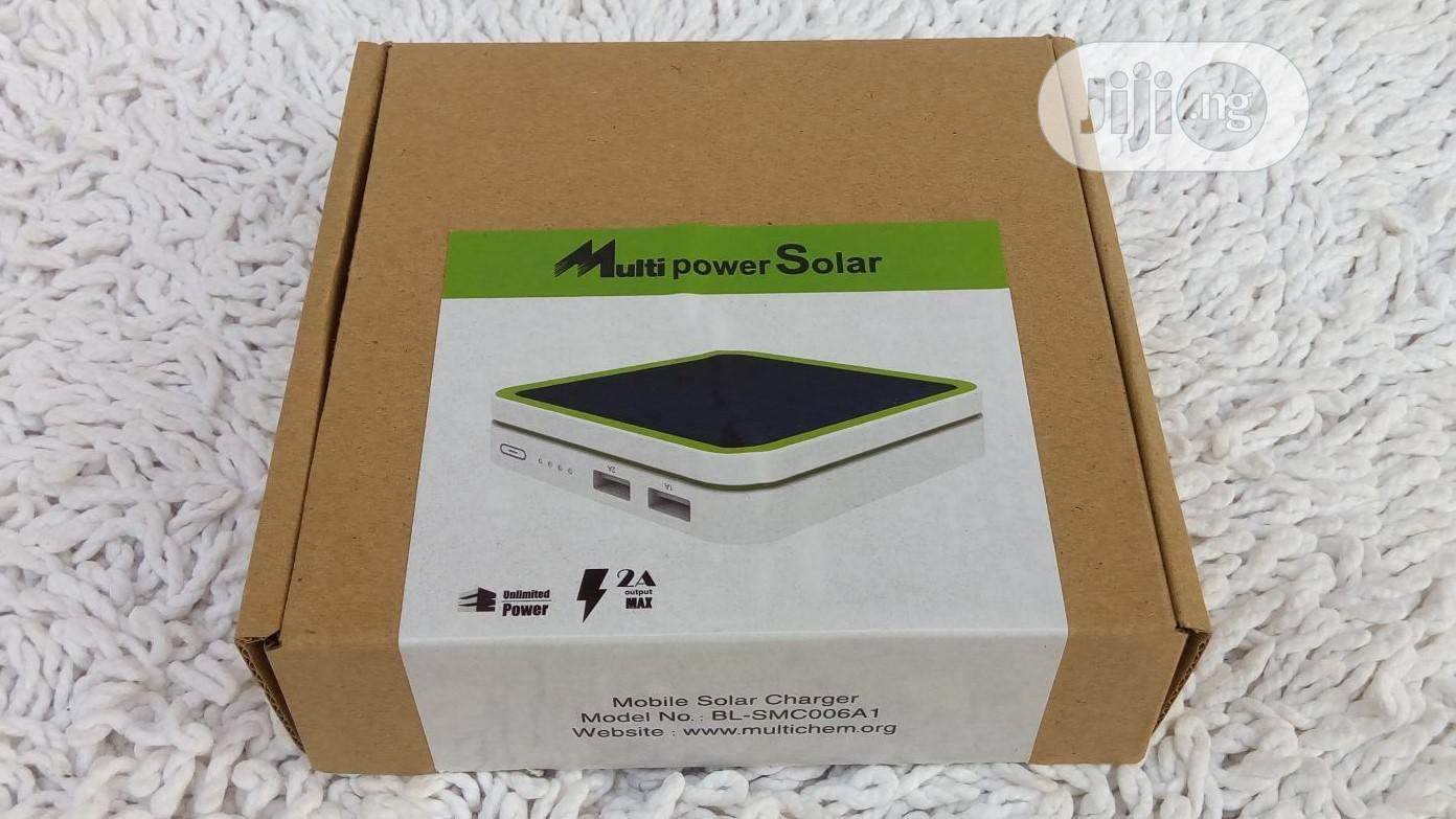 Solar Mobile Power Bank - 6000mah Battery | Solar Energy for sale in Alimosho, Lagos State, Nigeria