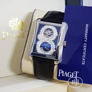 Piaget Automatic Silver Leather Strap Watch | Watches for sale in Lagos State, Lagos Island (Eko)