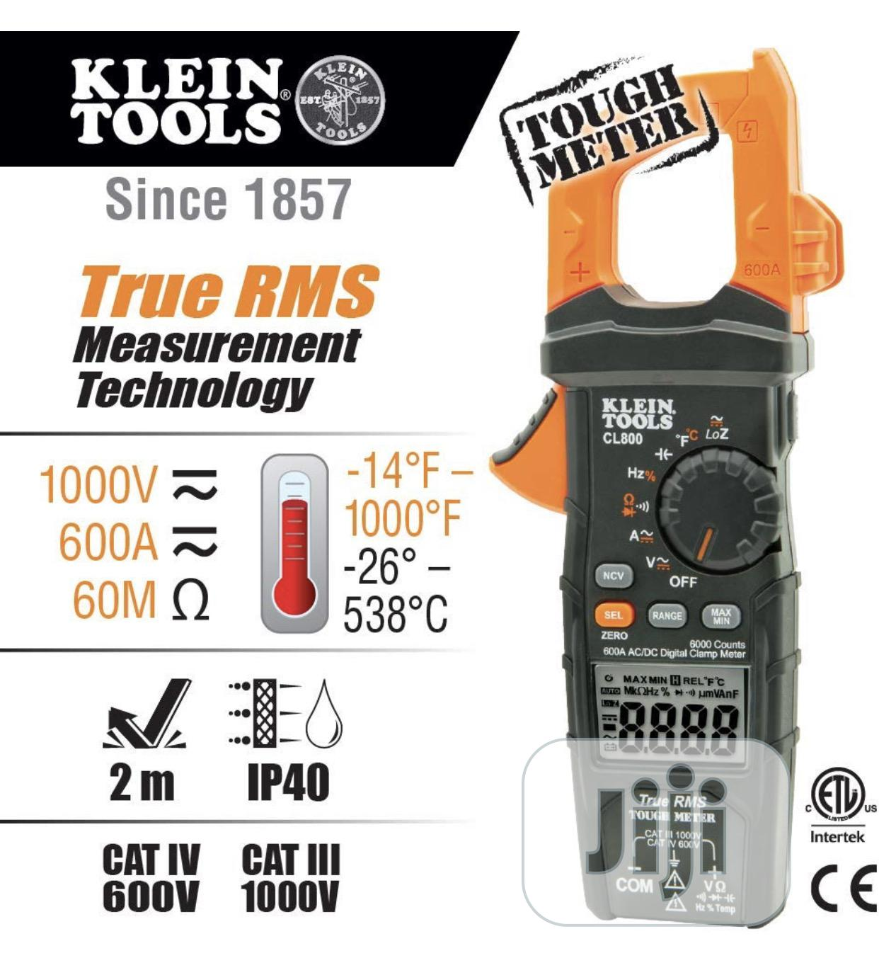 Klein Tools Clamp Meter CL800 | Measuring & Layout Tools for sale in Ojo, Lagos State, Nigeria