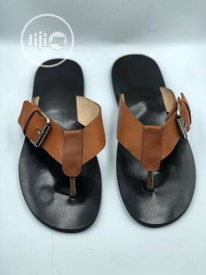 Patent Palm With Brown Leather and Side Bickle   Shoes for sale in Lagos State, Mushin