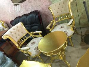 Original Royal Gold Seatters Chair With Gold Table | Furniture for sale in Lagos State, Ikeja