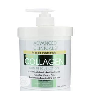 Advanced Clinicals Collagen Skin Rescue Lotion 16oz | Skin Care for sale in Lagos State, Ikeja