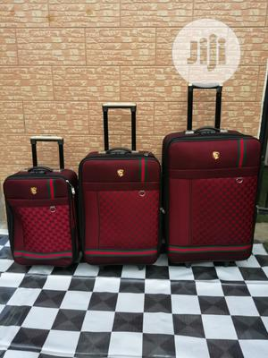 Travel Bags Suite Case Bags (3 Sets) Red Color   Bags for sale in Lagos State, Ikeja
