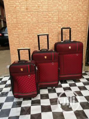Quality Trolley Travel Luggage Bags 3 - Sets (Red Color)   Bags for sale in Lagos State, Ikeja