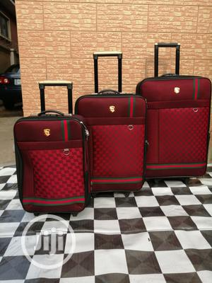 Luxury Travel Bags ( 3 Sets) Red Color Bags   Bags for sale in Lagos State, Ikeja