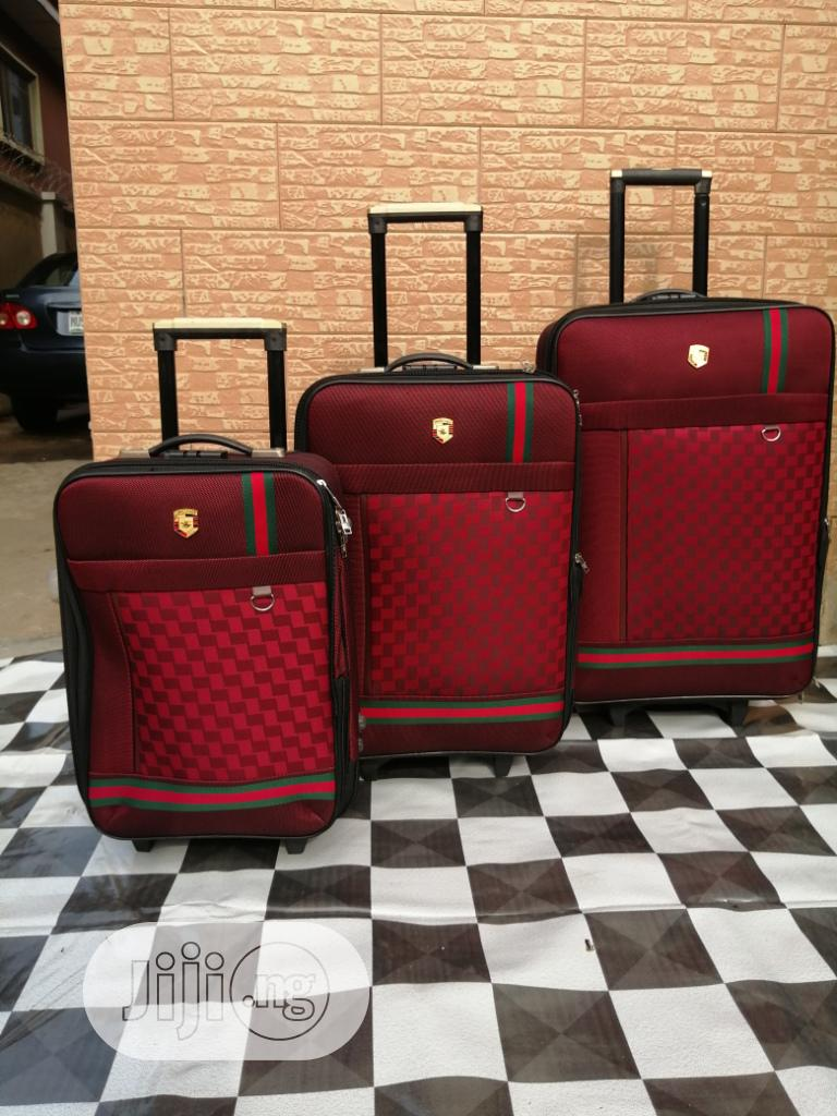 Luxury Travel Bags ( 3 Sets) Red Color Bags