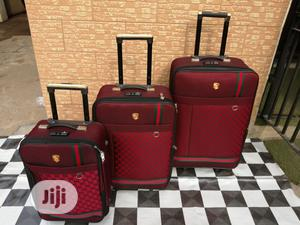 Red Color Luxury Trolley Travel Bags (3 Sets) Available   Bags for sale in Lagos State, Ikeja