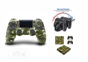 Sony Ps4 Dualshock Controller Pad - Green + Super Combo | Accessories & Supplies for Electronics for sale in Lagos State, Ikeja
