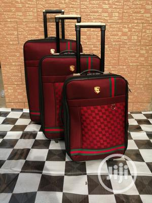 Travel Trolley Luggage Bags (3 Sets) Red Color   Bags for sale in Lagos State, Ikeja
