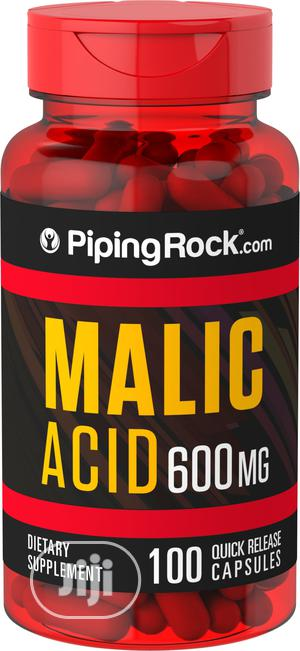 Piping Rock Malic Acid 600 Mg (Enriched Skin Care Agent) - 100 Caps | Vitamins & Supplements for sale in Lagos State, Alimosho