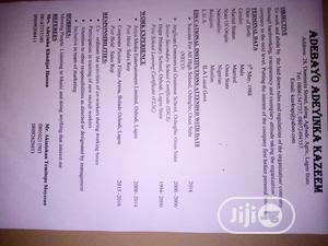 Logistics & Transportation CV | Logistics & Transportation CVs for sale in Lagos State, Ikorodu