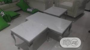 Quality Marble Center Table & Side Stools | Furniture for sale in Lagos State, Ikoyi