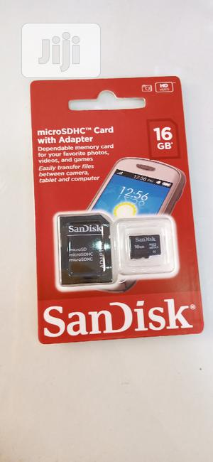 Sandisk 16GB Micro SDHC Memory Card + Adapter | Accessories for Mobile Phones & Tablets for sale in Lagos State, Ikeja