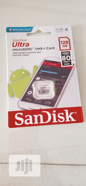 Sandisk 128GB Ultra Microsd 80mb/S Speed Memory Card With Adapter | Accessories for Mobile Phones & Tablets for sale in Lagos State, Ikeja