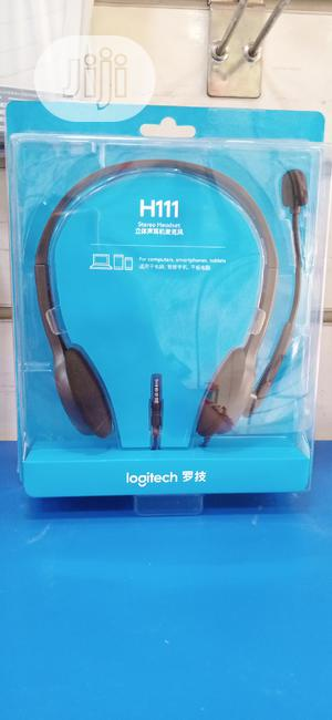 Logitech Stereo Headset H111 With Mic | Headphones for sale in Lagos State, Ikeja