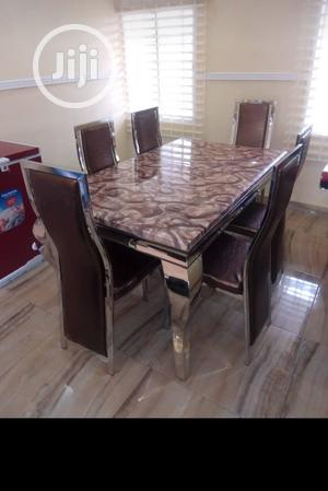 Affordable Marble Dining Table With Six Chairs | Furniture for sale in Lagos State, Ajah