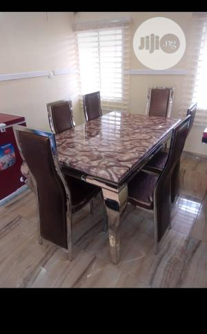Quality Affordable Marble Dining Table With Six Chairs | Furniture for sale in Lagos State, Lekki