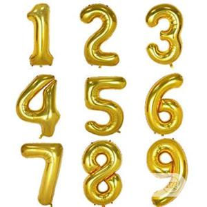 0~9 Gold Foil Balloons For Birthday Wedding Party | Home Accessories for sale in Lagos State, Amuwo-Odofin