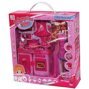 Generic Children Deformation Kitchen Set With Light/Music - Pink | Toys for sale in Lagos State, Amuwo-Odofin