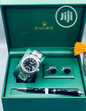 Rolex Oyster Perpetual Silver Chain Watch/Pen And Cufflinks   Watches for sale in Lagos State, Lagos Island (Eko)