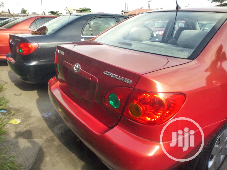 Toyota Corolla 2003 Sedan Red   Cars for sale in Amuwo-Odofin, Lagos State, Nigeria