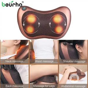 Vibrating Electric Back Neck Shoulder Massage Pillow With 4 Button | Massagers for sale in Lagos State, Lagos Island (Eko)